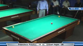 3 Cushion @ The Eight Ball - Gilbert Najm vs Francisco Palafox
