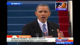 Barack Obama jura públicamente segundo mandato como presidente de los Estados Unidos