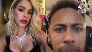Neymar tem reação surpreendente ao ver Bruna Marquezine loira