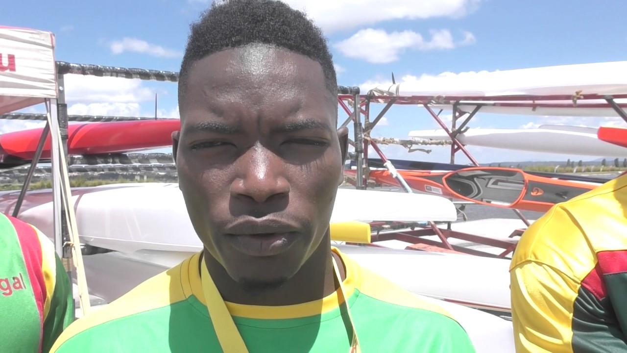 #ICFsprint 2017 Canoe World Cup 1 Montemor-o-Velho - Senegal team competing in Portugal
