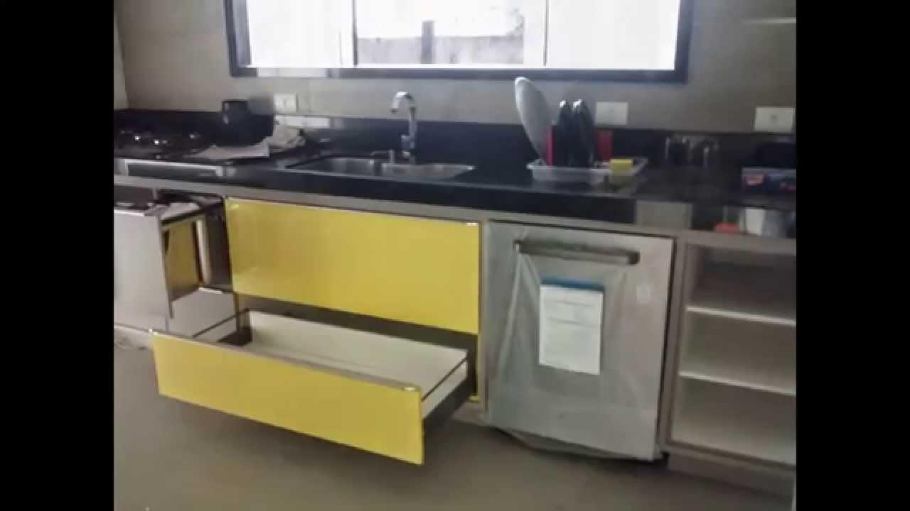 Wibamp Com Cozinha Planejada Em Inox Id Ias Do Projeto Da  ~ Cozinha Planejada Preta E Inox