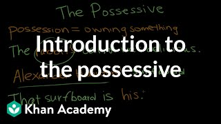 Introduction to the possessive | The Apostrophe | Punctuation | Khan Academy