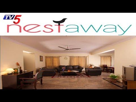 అద్దె ఇళ్ళు వెతుకుతున్న వారికి శుభవార్త | Nestaway Rent House Mobile App | Hyderabad | TV5 News