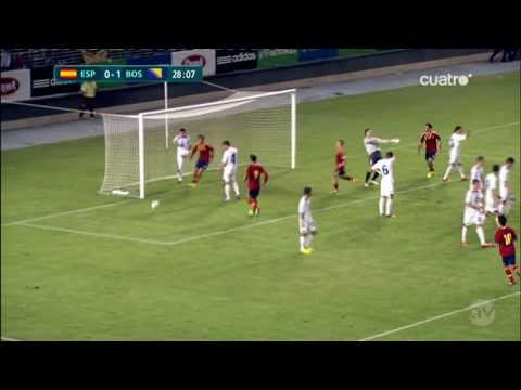 Sergi Roberto Goal Spain U21 vs Bosnia & Herzegovina U21 1-1 HD 10.10.2013