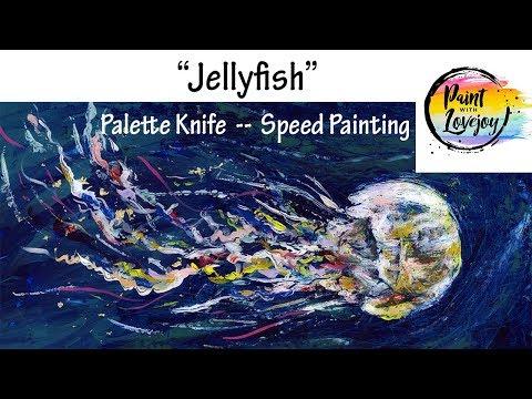 Jellyfish Demonstration  : Using Palette Knife & Epoxy Resin (Artresin)