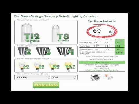Energy Savings Calculator by Green Savings Co.