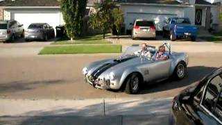 Daryn takes Dad out in the Cobra