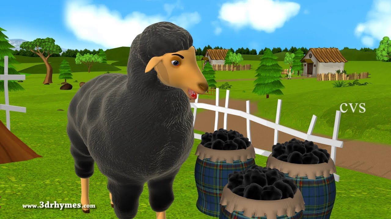 Baa Baa Black Sheep - 3D Animation English Nursery rhyme ...