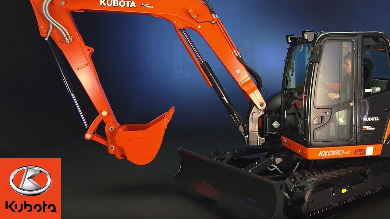 Kubota S Flagship 8 Ton Power Utility Excavator The Kx080 Youtube