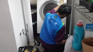 드럼세탁기 분해청소