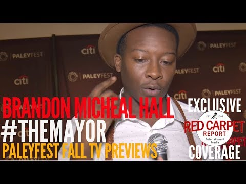 Brandon Micheal Hall #TheMayor interviewed at the ABC series 'The Mayor' preview at PaleyFest