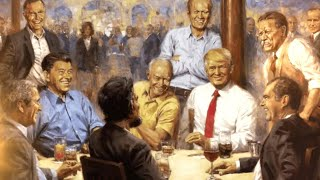 Painting Seen During President Trump's '60 Minutes' Interview Stirs Controversy