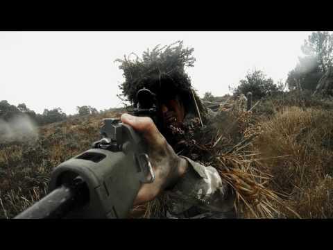 Royal Marine sniper training