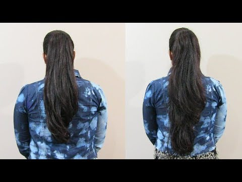 How To Get Long Thick Ponytail Hairstyle On Short Medium Hair