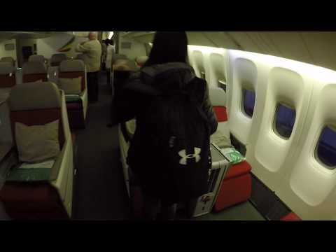 Boarding Ethiopian Airlines Boeing 777-200LR Business Class