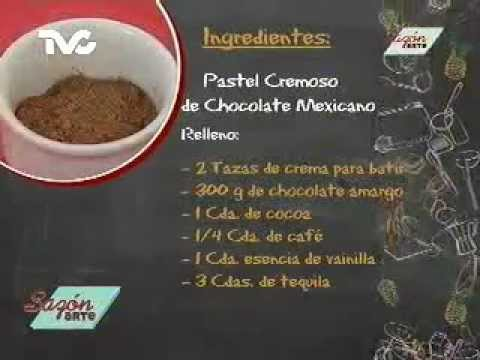Receta para preparar pastel cremoso de chocolate mexicano for Ingredientes para cocinar