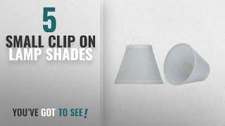 Top 10 Small Clip On Lamp Shades [2018 ]: Aspen Creative 32107-2 Small Hardback Empire Shape