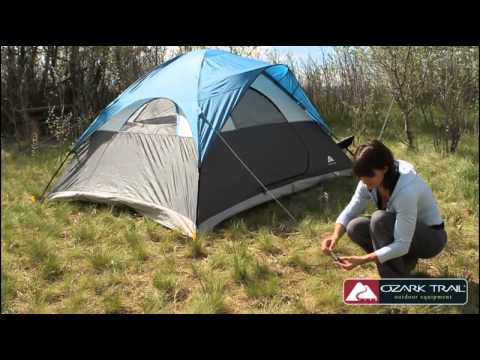Ozark Trail 10u0027 x 8u0027 Backpacking Tent - wgs shopping & Ozark Trail 10u0027 x 8u0027 Backpacking Tent - wgs shopping - YouTube