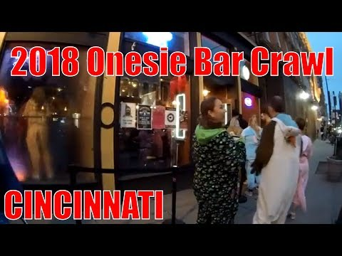 2018 Onesie Bar Crawl - Cincinnati Ohio OTR