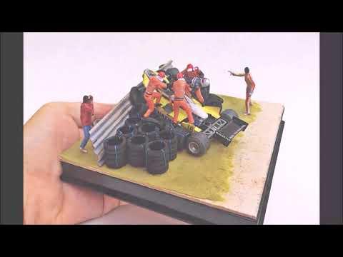 Diorama René Arnoux crash Zandvoort 1982
