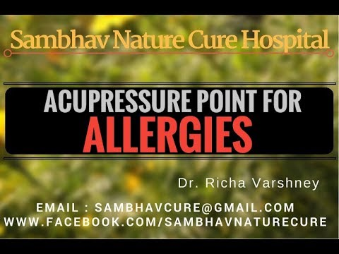 How to cure allergies – Dust Allergy | Allergic Asthma | Urticaria Treatment – Acupressure in Hindi