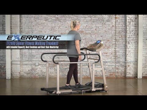 4001 Exerpeutic TF2000 Senior Fitness Walking Treadmill with Extended Capacity