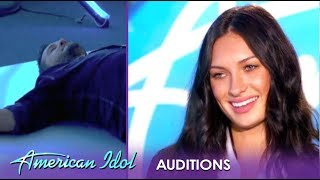 Katie Belle: This Sexy Model Can Sing And Luke Bryan COLLAPSES! | American Idol 2019