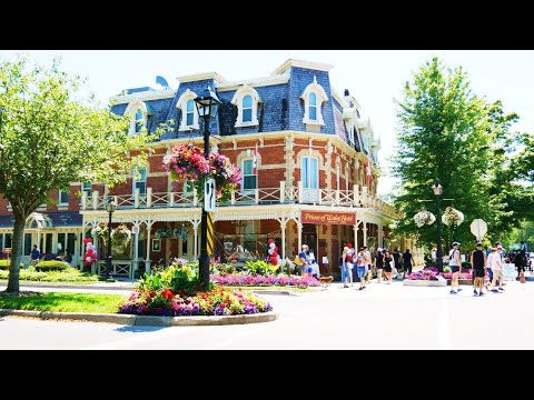Niagara-On-The-Lake Village In Summer On Canada Day 2020 4K Video