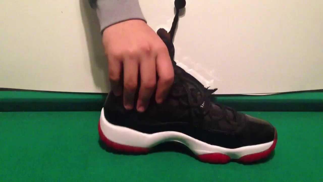 jordan 11 negro con rojo