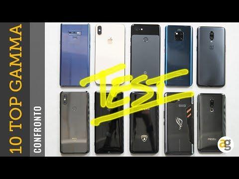 10 TOP di gamma a CONFRONTO. iPhone XS, Note 9, Mate 20 pro, OnePlus 6t, Sony XZ3