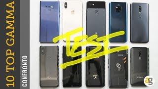 10 TOP di gamma a CONFRONTO. iPhone XS, Note 9, Mate 20 pro, OnePlus 6t, Sony XZ3