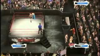 PS3「WWE2009」でフレンドが元AKBのAV女優やまぐちりこを作成!もうひとりのフレンドと外人まぜて4人オンラインマッチ!! やまぐちりこ遂にプロ...