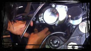Yamaha R1 2009 DIY Installation. HID 10000k lights.MOV