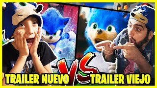TRAILER DE SONIC NUEVO vs TRAILER DE SONIC VIEJO - Video Reacción CASIMOCHOTV