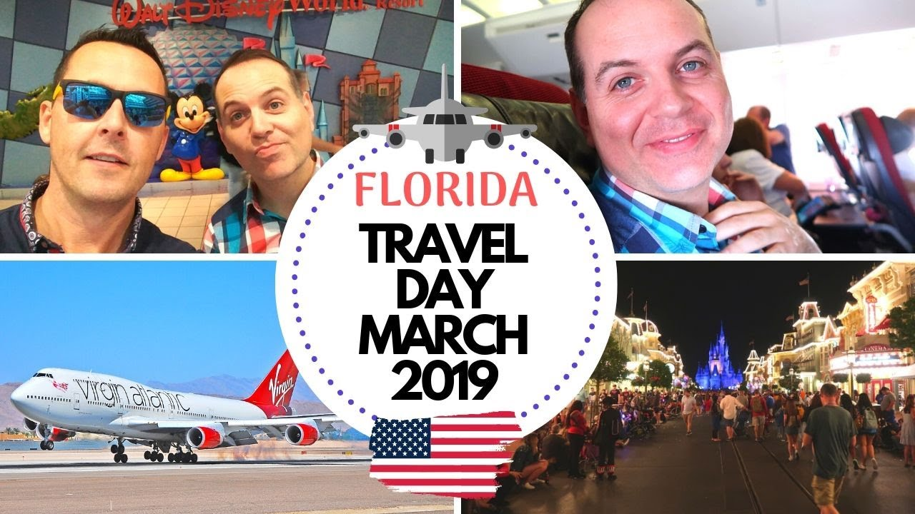 TRAVELLING TO FLORIDA MARCH 2019 | DISNEY WORLD VLOGS TRAVEL DAY | THE  LODGE GUYS