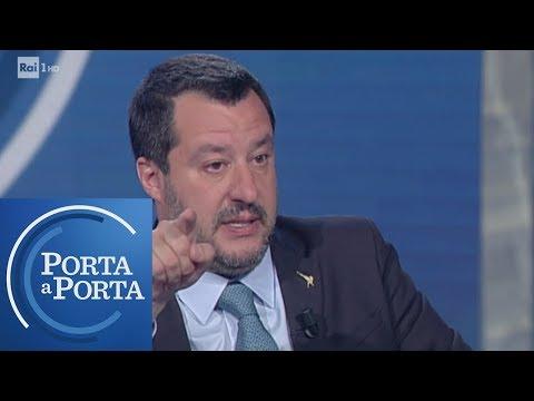 Matteo Salvini sulla tentata strage a San Donato Milanese - Porta a porta 20/03/2019