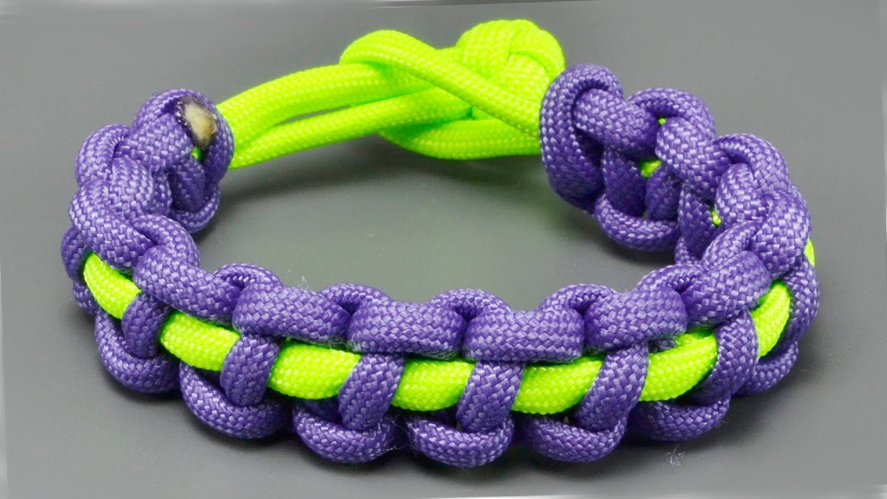314394f130a37 How to make a Thin Solomon Bar paracord bracelet
