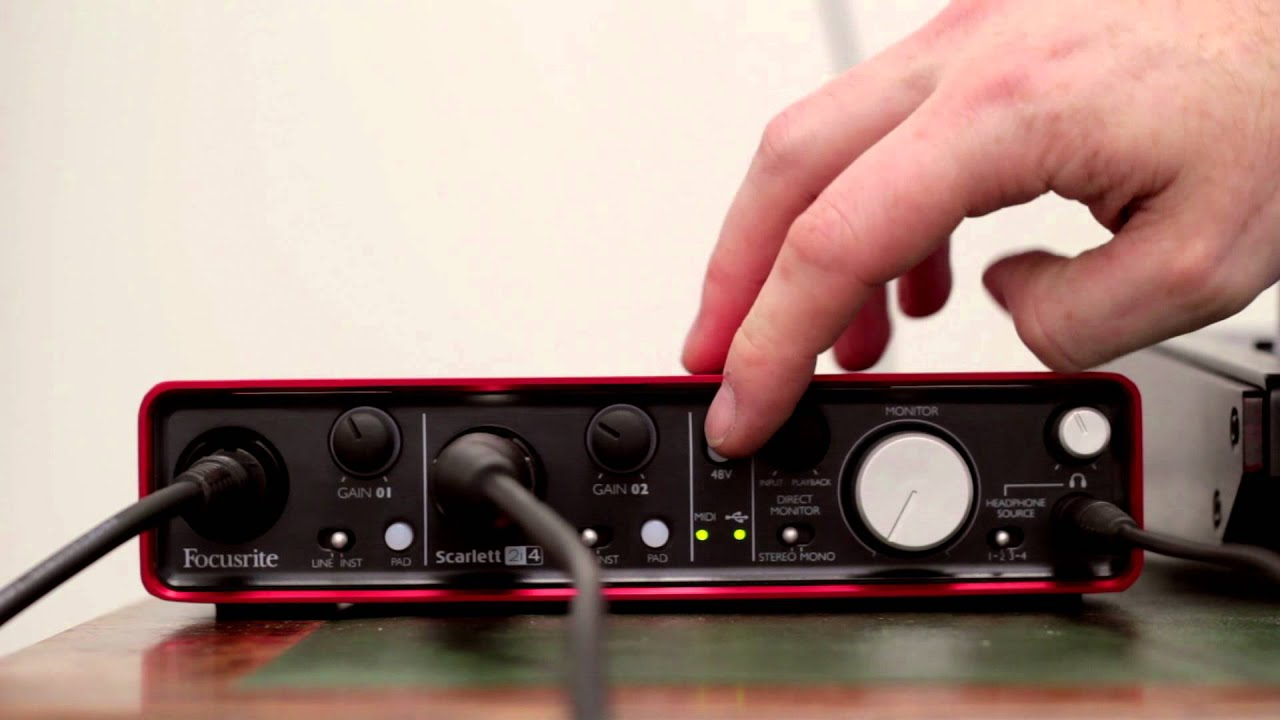 Focusrite Scarlett 2i4 Audio Interface Tutorial Youtube Diagram Further Pioneer Dj Speakers On Wiring A Guitar Speaker Jack Premium