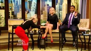 Kelly Ripa - hot slit skirt & red stiletto high heels -  April 22, 2015