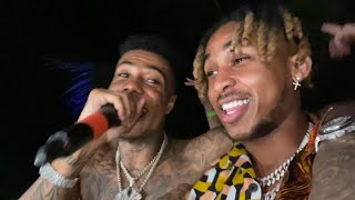 DDG & Blueface crashes Mayweather after party!!