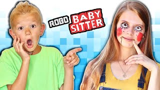 My Sister Is A ROBOT! Escape The BabySitter Sister Robot!