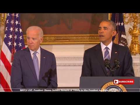 President Barack Obama Surprises Vice President Joe Biden with the Presidential Medal of Freedom