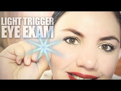 ASMR Doctor | Eye Exam Role Play | Light Triggers (With Keyboard Sounds)
