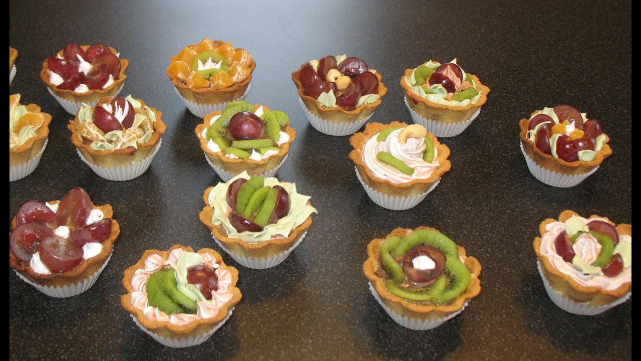 рецепты пирожных корзиночки с фото