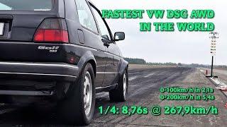 Boba VW Golf Mk2 DSG AWD 8,76s @ 267kkmh Finsterwalde 2018