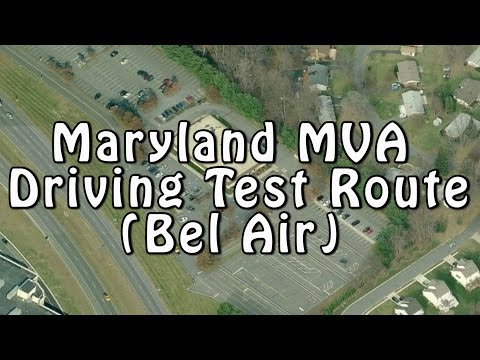 Maryland MVA Driving Test Route (Bel Air)