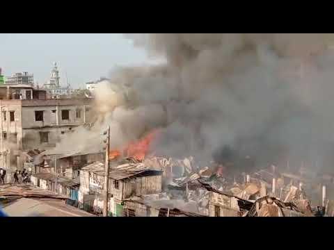 রাজধানীর মানিকনগরের কুমিল্লা পট্টিতে অগ্নিকাণ্ড