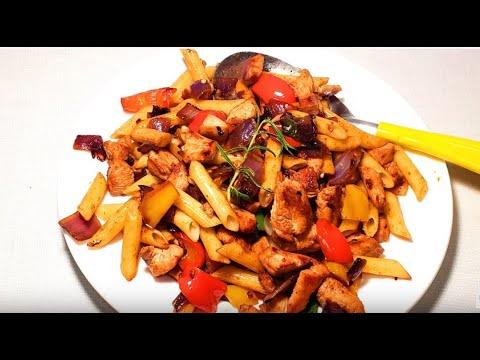 chicken-&-pasta- -quick-dinner-in-15-minutes
