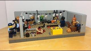 Лего самоделка на тему маньяк! Полиция штурмует логово маньяка!