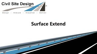 Civil Site Design - Surfaces - Surface Extend